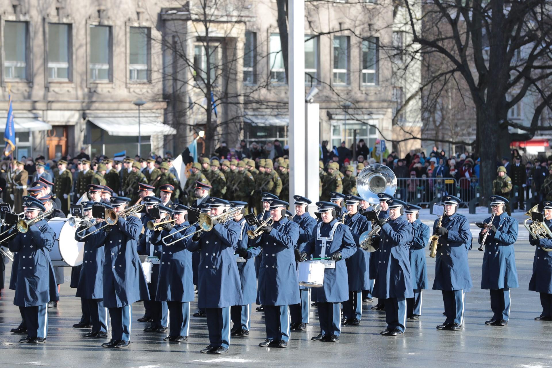 Военный парад в Таллине 24 февраля 2017 года