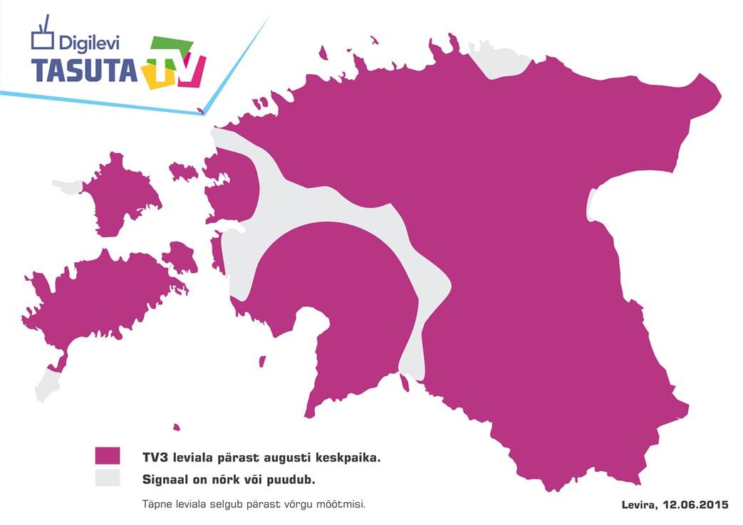 TV3 leviala päras levivõrgu vahetust