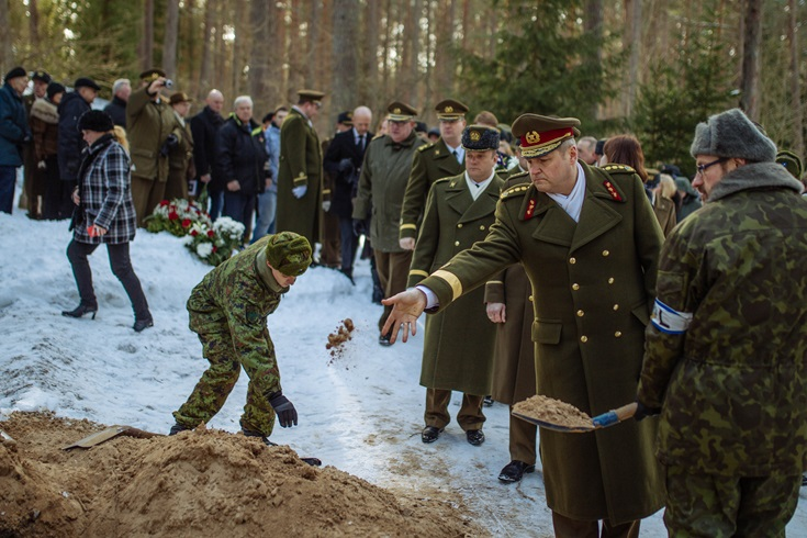 Commander of the Estonian Defence Forces Lt. Gen. Riho Terras at Capt. Harri Henn's funeral